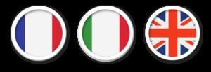 langues parlées anglais italien et français